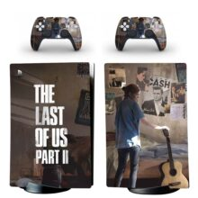 The Last Of US Part II Skin Sticker Decal For PS5 Digital Edition And Controllers Design 2