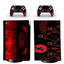Stranger Things Skin Sticker Decal For PS5 Digital Edition And Controllers