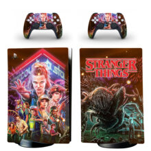 Stranger Things Skin Sticker Decal For PS5 Digital Edition Design 2