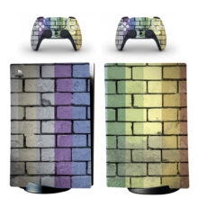 Color Stone Bricks Skin Sticker Decal For PS5 Digital Edition