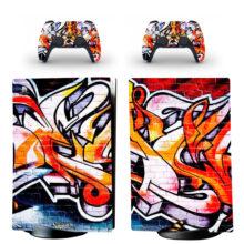 Street Art Graffiti Wallpaper Skin Sticker Decal For PS5 Digital Edition