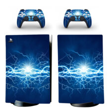 Thunder Lightning Attract Positive Energies Skin Sticker Decal For PS5 Digital Edition