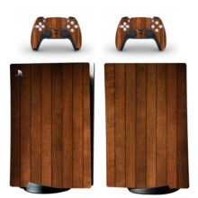 Wooden Plank PS5 Digital Edition Skin Sticker Decal Design 2