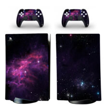 Milky Way Galaxy Pattern PS5 Digital Edition Skin Sticker Decal Design 4