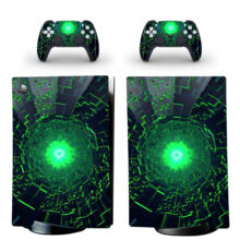 Green Crystal Wallpaper PS5 Digital Edition Skin Sticker Decal