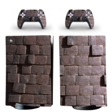 Stone Bricks Skin Sticker Decal For PS5 Digital Edition Design 2