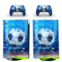 Soccer Ball Skin Sticker Decal For PS5 Digital Edition And Controllers