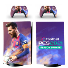 eFootball PES 2021 Skin Sticker Decal For PS5 Digital Edition And Controllers