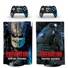 Predator Hunting Grounds Skin Sticker Decal For PS5 Digital Edition And Controllers