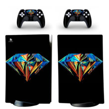 Diamond Pattern Wallpaper Skin Sticker Decal For PS5 Digital Edition And Controllers