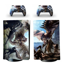 Monster Hunter World Skin Sticker Decal For PS5 Digital Edition And Controllers