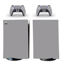 Plain Gray Pattern Wallpaper Skin Sticker Decal For PS5 Digital Edition And Controllers