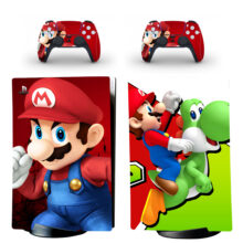 Super Mario Bros Skin Sticker Decal For PS5 Digital Edition And Controllers