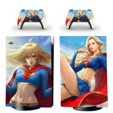 Supergirl Skin Sticker Decal For PS5 Digital Edition And Controllers