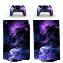 Color Cloud Pattern Skin Sticker Decal For PS5 Digital Edition