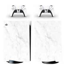 Grey White Abstract Marble Stone PS5 Digital Edition Skin Sticker Decal