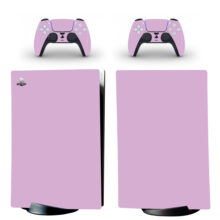 Pure Solid Color Gradient Skin Sticker Decal For PS5 Digital Edition And Controllers