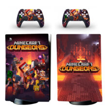 Minecraft Dungeons Skin Sticker Decal For PS5 Digital Edition And Controllers