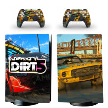 Dirt 5 Skin Sticker Decal For PS5 Digital Edition And Controllers