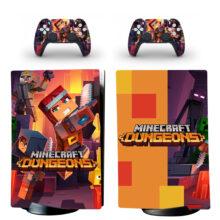 Minecraft Dungeons PS5 Digital Edition Skin Sticker Decal Design 1