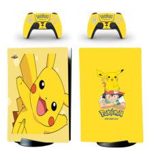 Pokemon Pikachu PS5 Digital Edition Skin Sticker Decal