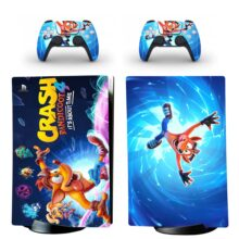 Crash Bandicoot 4 It's About Time PS5 Digital Edition Skin Sticker Decal