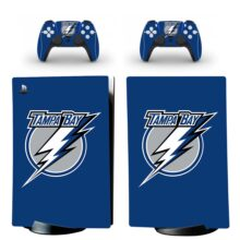 Tampa Bay Lightning Skin Sticker Decal For PS5 Digital Edition And Controllers