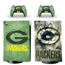 Green Bay Packers Skin Sticker Decal For PS5 Digital Edition And Controllers