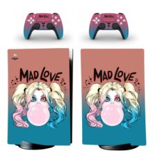 Harley Quinn Mad Love PS5 Digital Edition Skin Sticker Decal