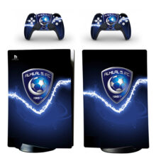 Al Hilal SFC Skin Sticker Decal For PS5 Digital Edition And Controllers