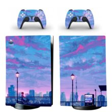 Anime Aesthetic Wallpapers PS5 Digital Edition Skin Sticker Decal