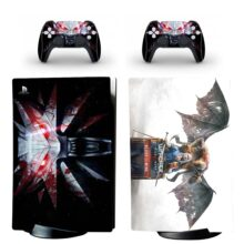 The Witcher PS5 Digital Edition Skin Sticker Decal Design 3