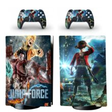 Jump Force Skin Sticker Decal For PS5 Digital Edition And Controllers