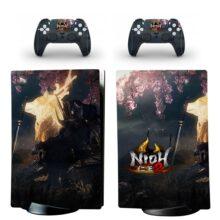 Nioh 2 Skin Sticker Decal For PS5 Digital Edition Design 3
