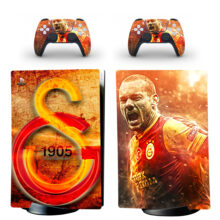 Galatasaray S.K Skin Sticker Decal For PS5 Digital Edition Design 1