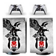 Turkey Football Team Besiktas BJK Skin Sticker Decal For PS5 Digital Edition Design 1