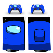 Blue Among Us PS5 Digital Edition Skin Sticker Decal
