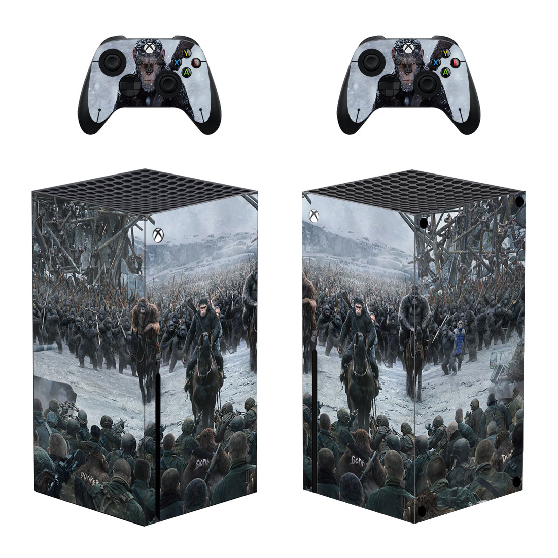 War For The Planet Of The Apes Xbox Series X Skin Sticker Decal