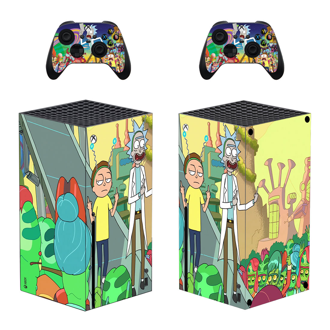 Rick And Morty Skin Sticker For Xbox Series X And Controllers