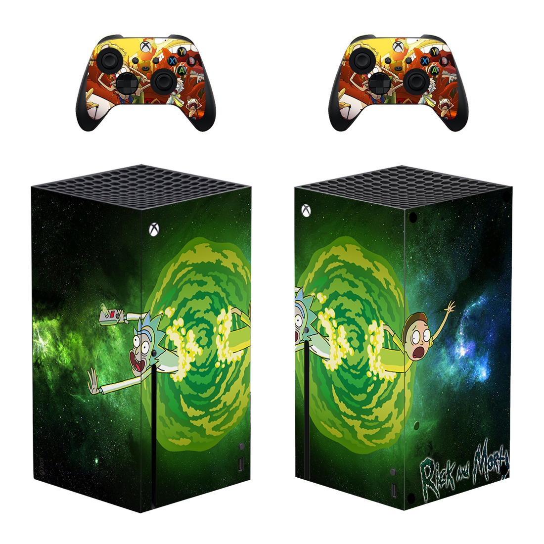 Rick And Morty Xbox Series X Skin Sticker Decal