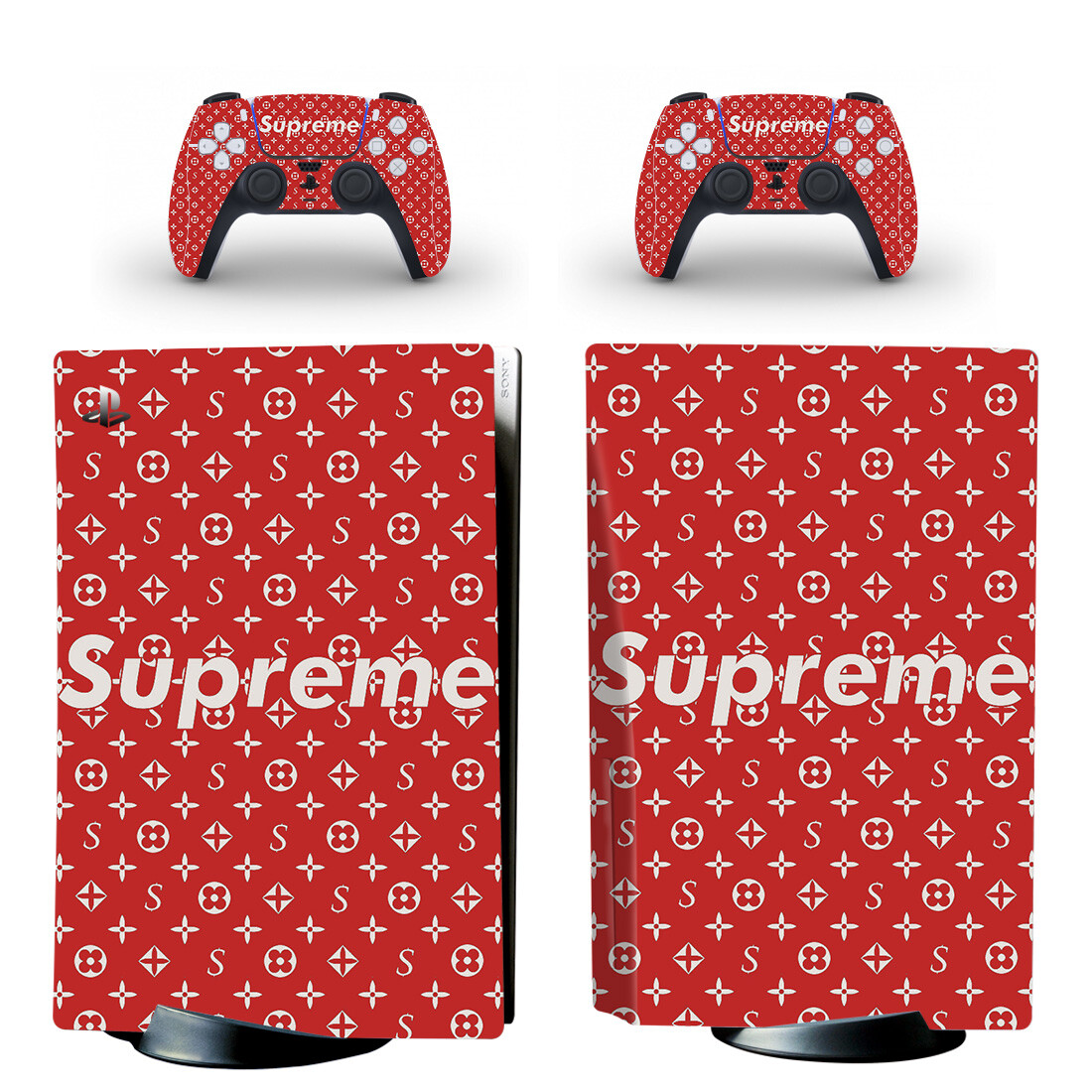 Supreme Skin Sticker For PS5 Skin And Controllers Design 1