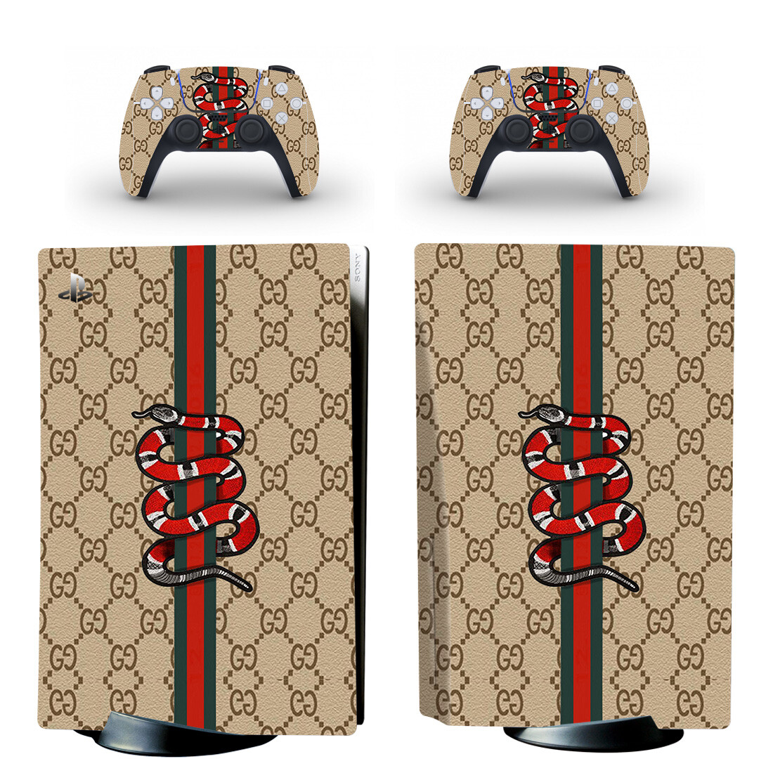 Gucci Drum Kit Wallpaper Skin Sticker For PS5 Skin And Controllers