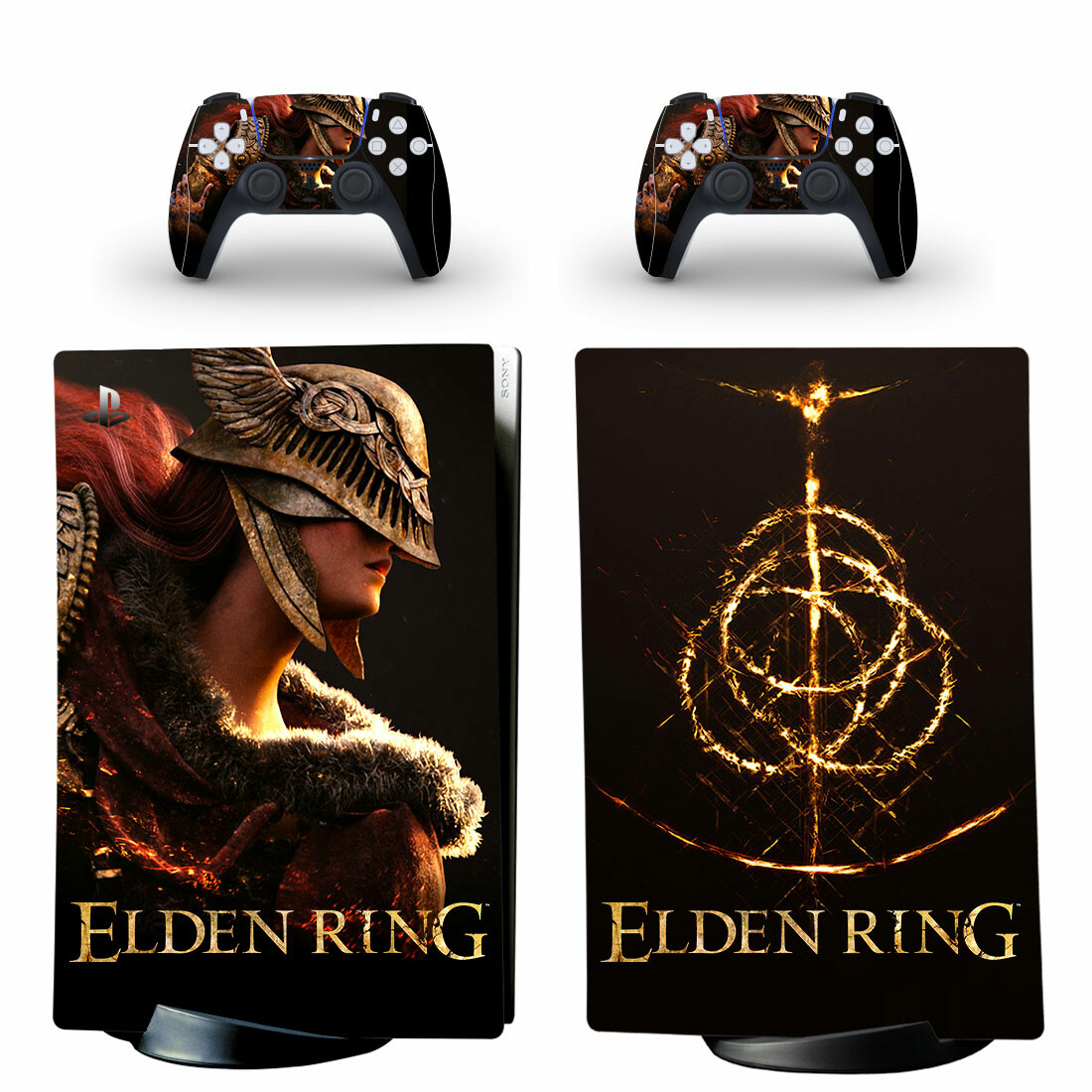 Elden Ring Skin Sticker Decal For PS5 Digital Edition And Controllers
