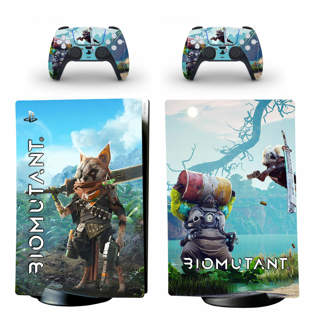 Biomutant Skin Sticker Decal For PS5 Digital Edition And Controllers