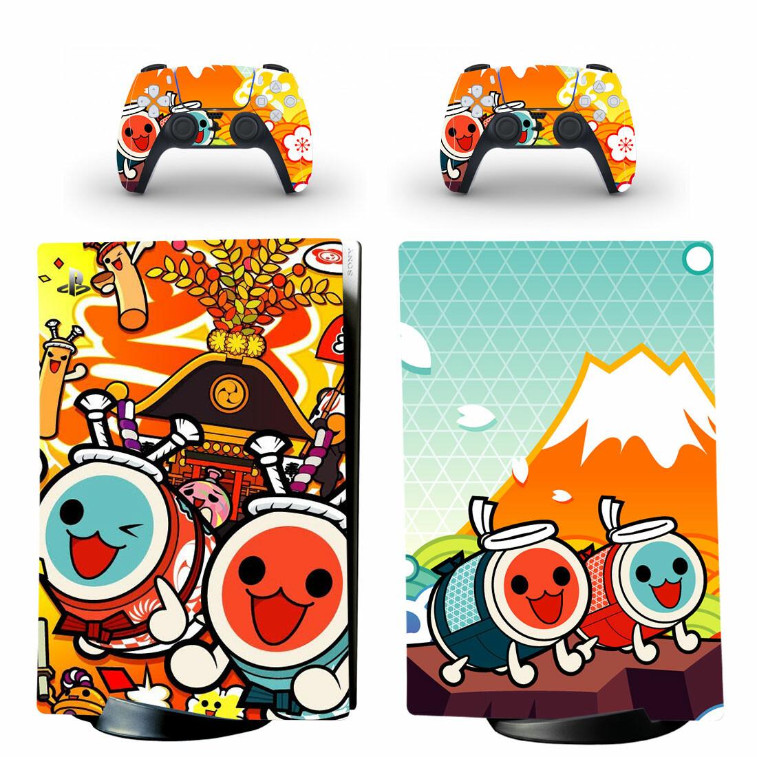 Taiko No Tatsujin Skin Sticker Decal For PS5 Digital Edition