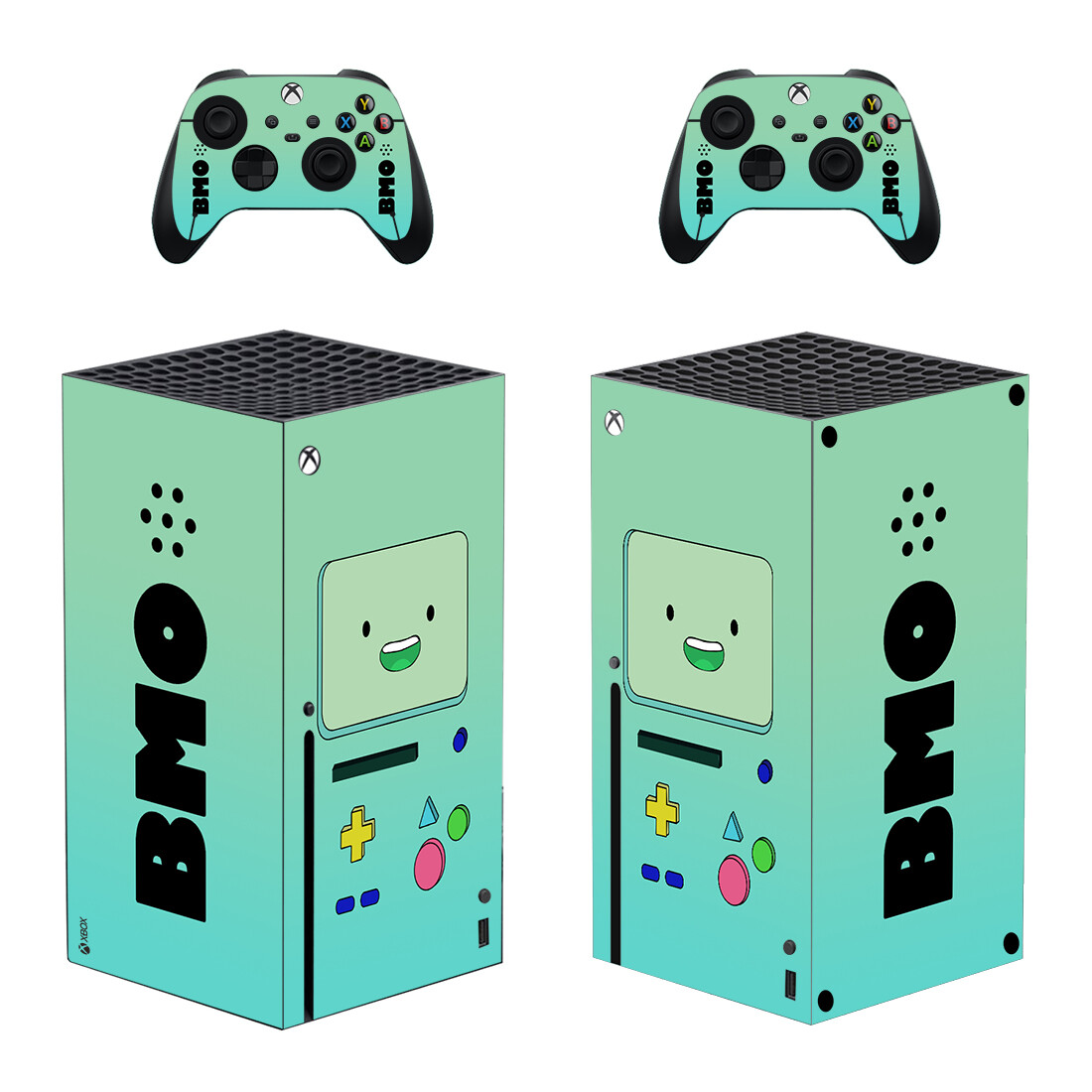 Adventure Time BMO Skin Sticker Decal For Xbox Series X