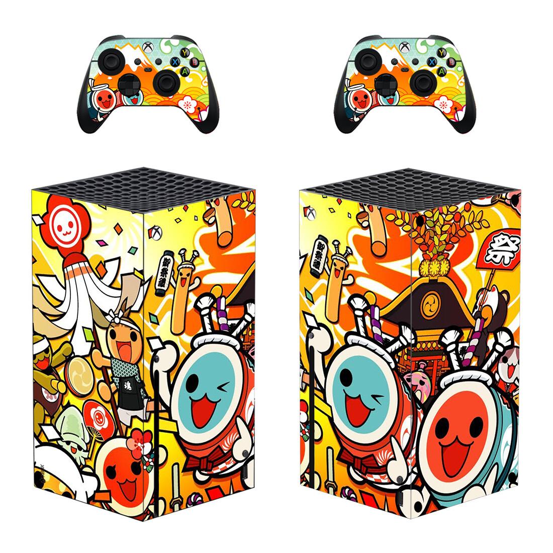 Taiko No Tatsujin Xbox Series X Skin Sticker Decal