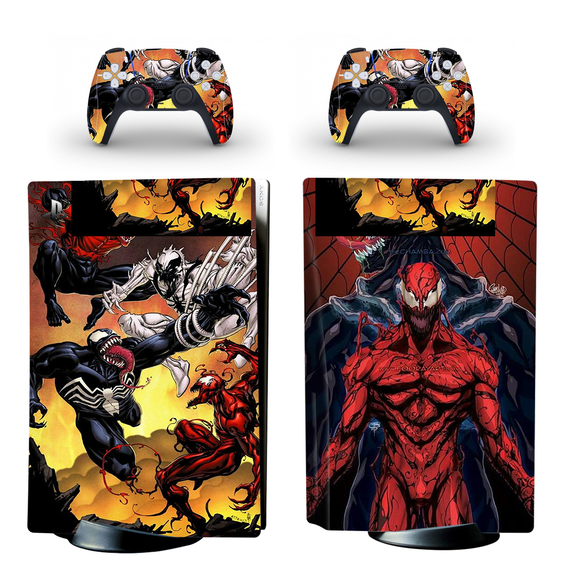 Venom PS5 Skin Sticker For PlayStation 5 And Controllers Design 2