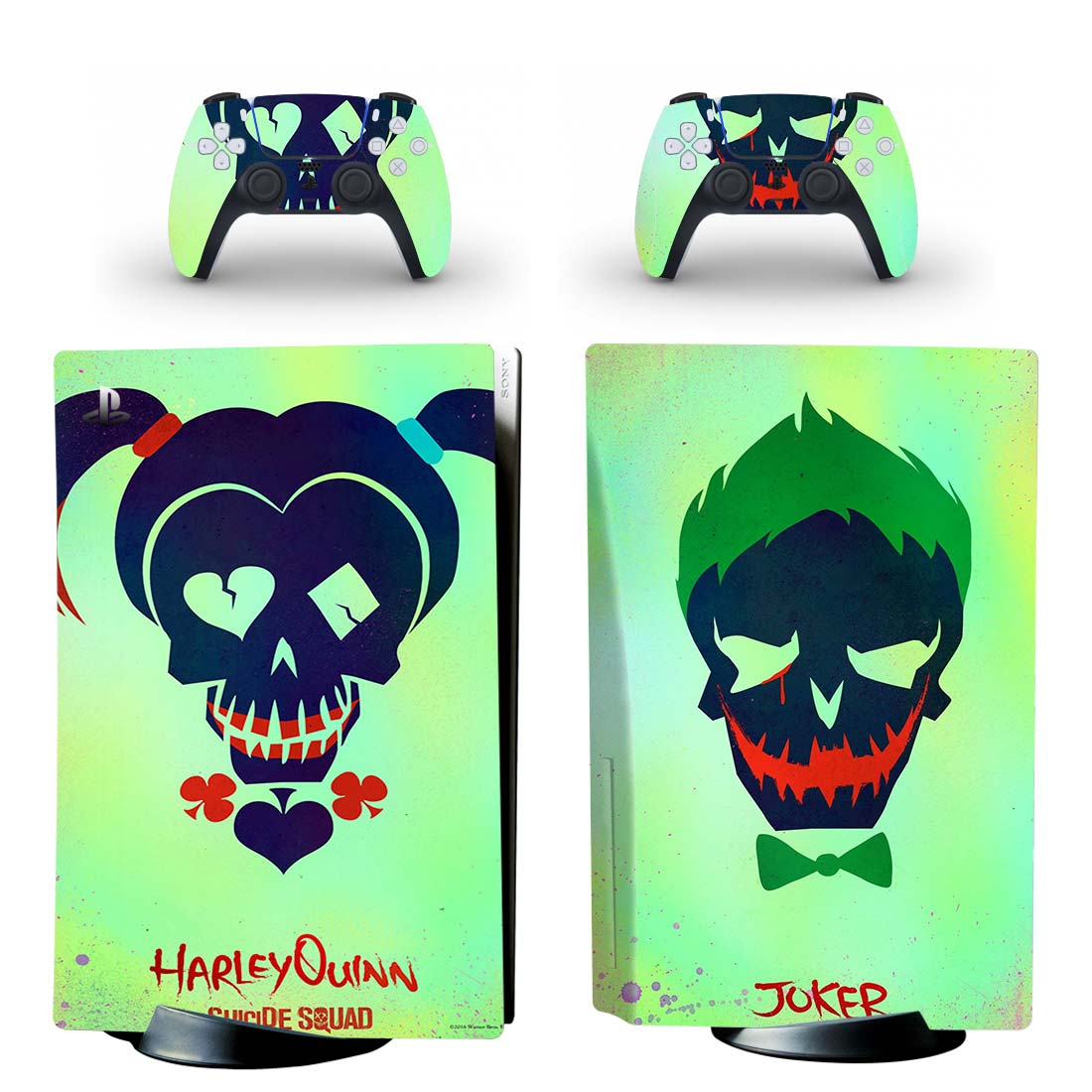 Harley Quinn And Joker Skin Sticker Decal For PlayStation 5