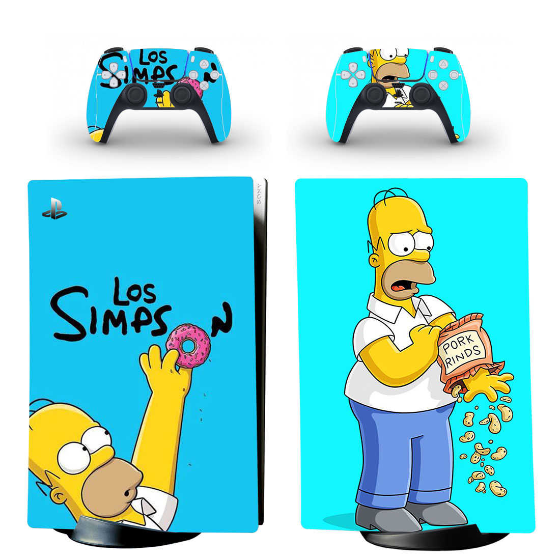 The Simpsons Skin Sticker Decal For PS5 Digital Edition Design 1